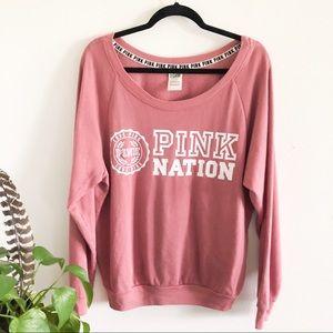 VS PINK nation begonia soft pullover sweatshirt L